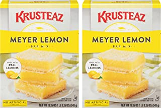 Krusteaz Meyer Lemon Bar Mix, Made with Real Lemons & Contains No Artificial Flavors, Kosher, 4 Easy Steps to Make, 19.35...