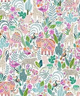 Henna Jungle Animals Glossy Gift Wrap Flat Sheet - 24