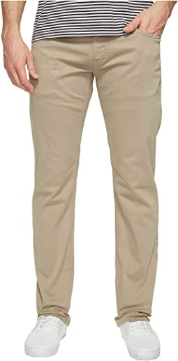 Zach Regular Rise Straight Leg in Beige Twill