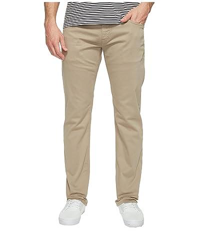 Mavi Jeans Zach Regular Rise Straight Leg in Beige Twill (Beige Twill) Men