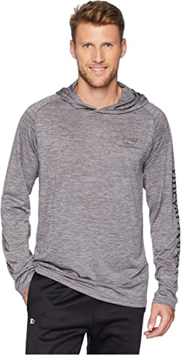 Long Sleeve Performance Space Dye Hoodie Whale Tee