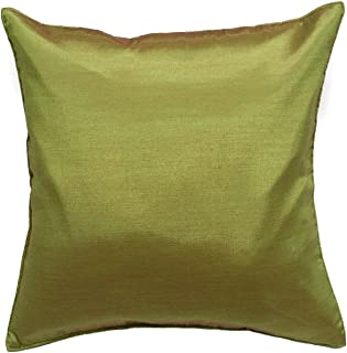 Avarada 16x16 Inch (40x40 cm) Solid Decorative Throw Pillow Case Cushion Cover for Sofa Couch Chair Bed Insert Not Included Zipper Green