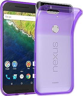 Cadorabo Funda para Huawei Nexus 6P en Transparente Lila – Cubierta Proteccíon de Silicona TPU Delgada e Flexible con Antichoque – Gel Case Cover Carcasa Ligera