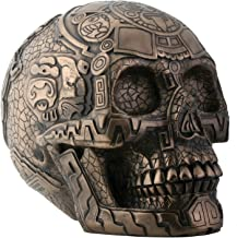 SUMMIT COLLECTION Bronze Aztec Skull with Engraving Collectible Statue