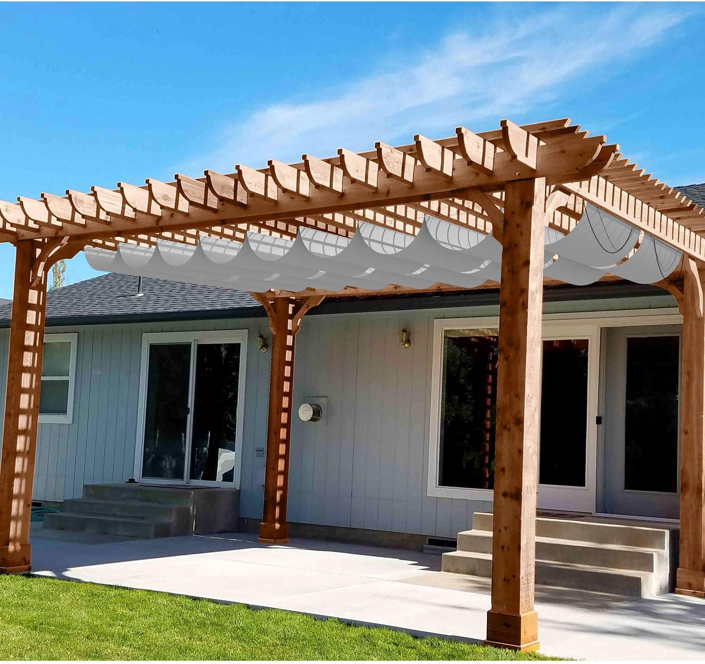 Patio Waterproof Retractable Shade Cover store Pergola Replacement Cov Las Vegas Mall