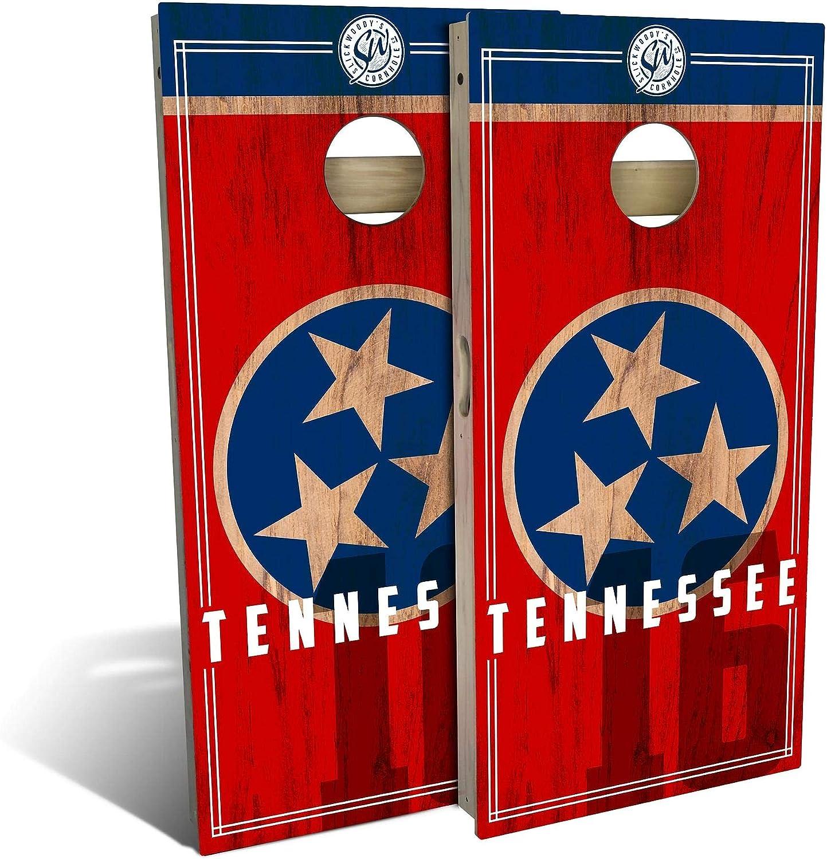 Skip's Garage Spasm price Tennessee Flag 2.0 Cornhole You Board Choose - High quality Set