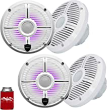 """$549 » Sponsored Ad - wet sounds - Two Pairs of Recon 6 XW-W RGB LED Recon Series 6.5"""" 60-Watt RMS Coaxial Speakers with White XW..."""