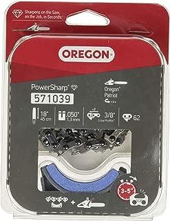 Oregon 571039 Kit de reposición de Cadena y Piedra de Afilado de la Motosierra eléctrica CS1500, Rojo/negro/gris