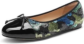 MANRINO Honey Ladies Classic Round Toe Butterfly Low Heel Pump Shoe Women Soft Shoes Flat Bow Tie