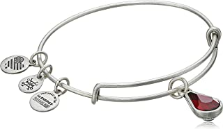 Birth Month Charm with Swarovski Crystal Bangle Bracelet