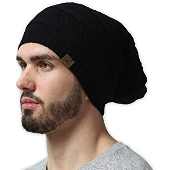 SmallHan Mens /& Womens Korn Skull Beanie Hats Winter Knitted Caps Soft Warm Ski Hat Black