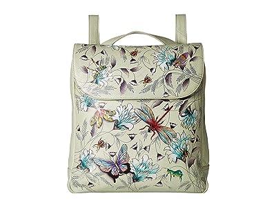 Anuschka Handbags 661 Large Convertible Backpack (Wondrous Wings) Backpack Bags