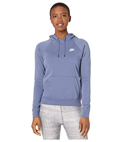 Nike NSW Essential Hoodie Pullover Fleece (Diffused Blue/White) Women