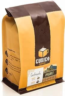 Peru Coffee - Ground Coffee - Freshly Roasted Coffee - Cubico Coffee - 16 Ounce (Single Origen Organic Cenfrocafe Peruvian Coffee)