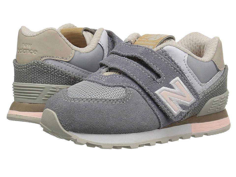 New Balance Kids IV574v1 (Infant/Toddler) (Gunmetal/Steel) Kids Shoes