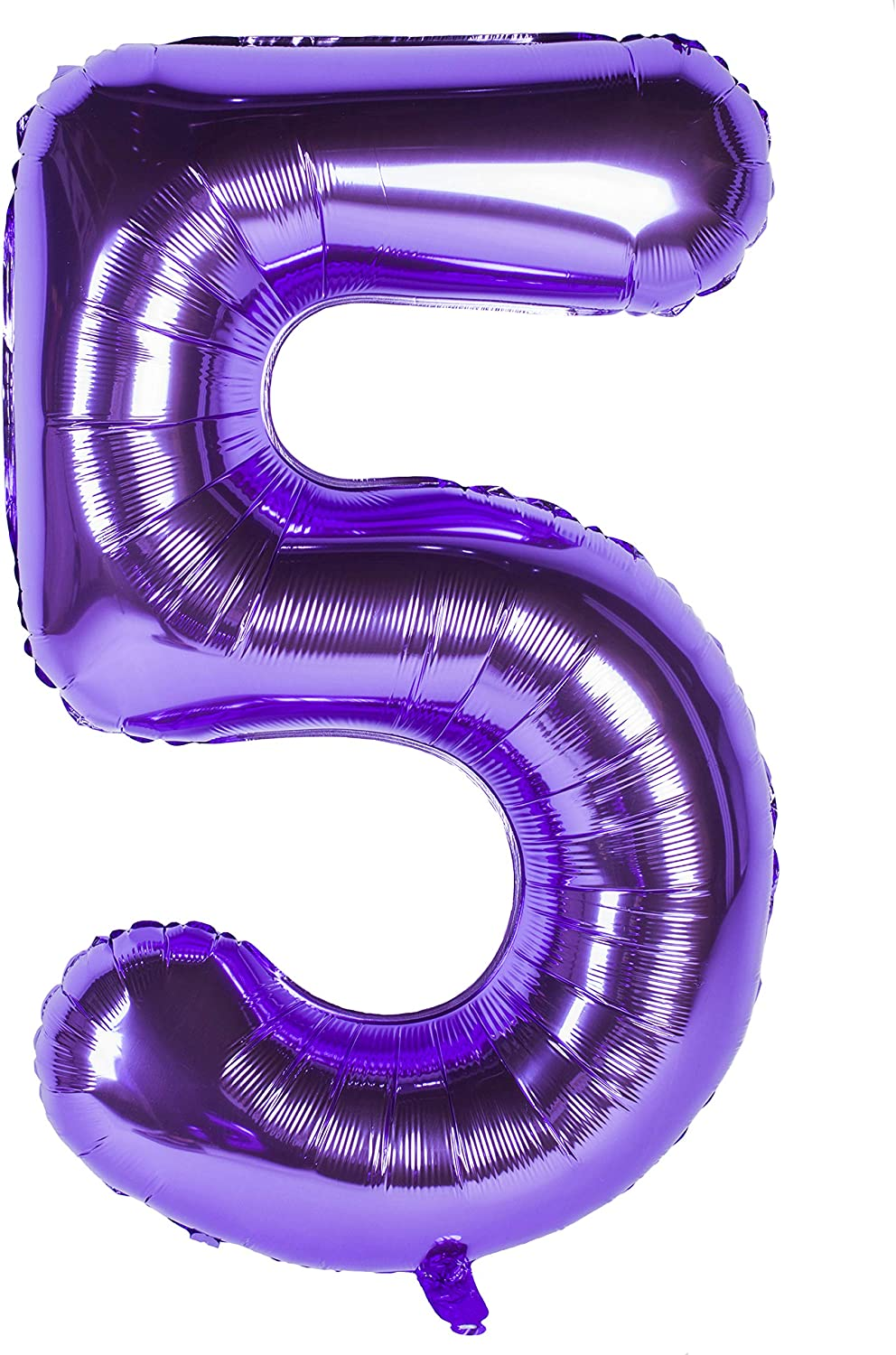 40 Inch Giant Purple Number 8 Balloon,Foil Helium Mylar Large Digital Balloons for Girl Birthday Party Decorations,Wedding,Bridal Shower