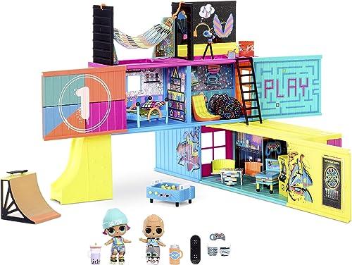 LOL Surprise Clubhouse. Maison de poupée, 40 surprises et plus. 2 poupées exclusives, 7 espaces, cuisine, chambre, te...