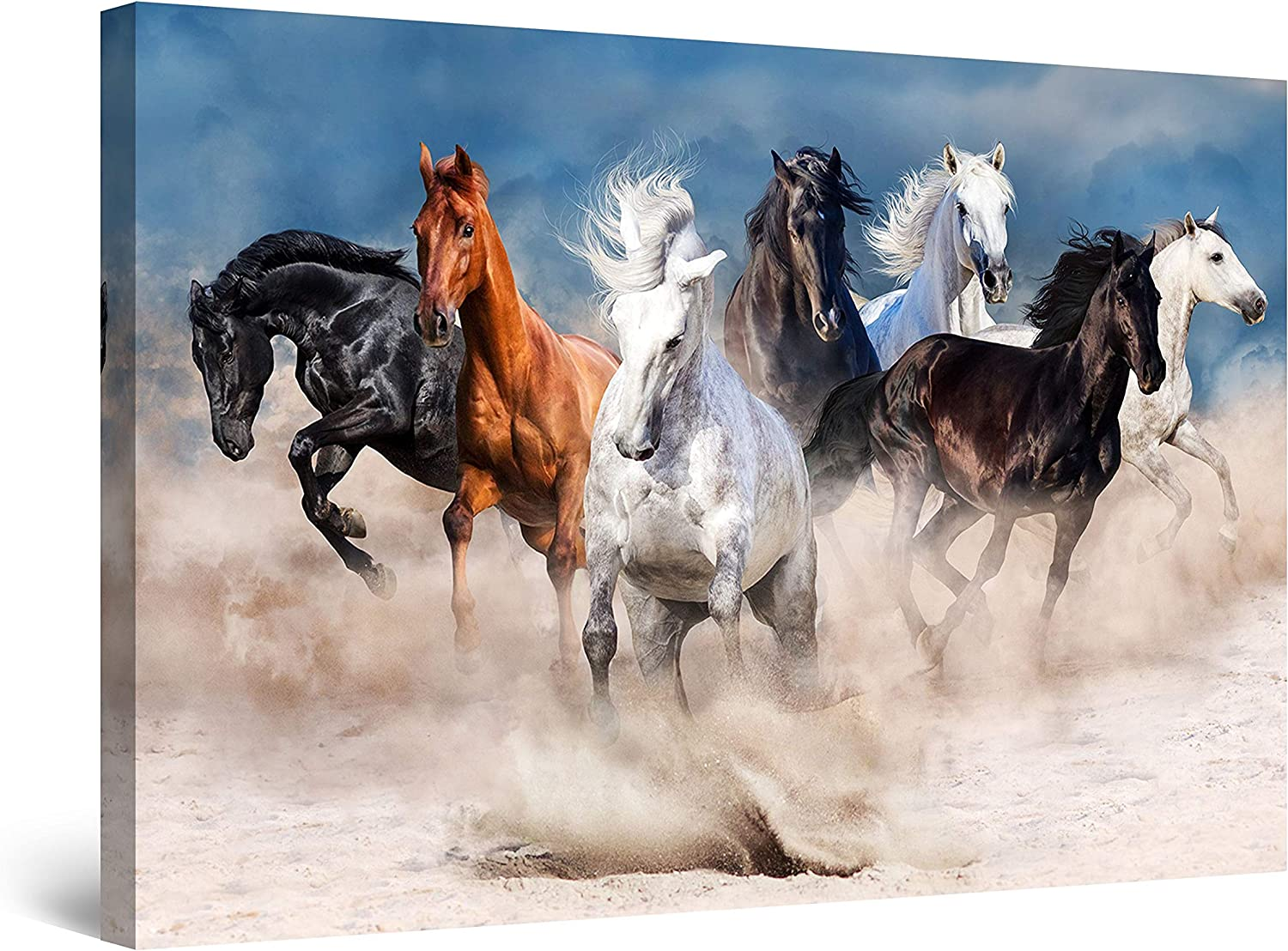 Startonight Canvas Directly managed store specialty shop Wall Art Decor Horses Sand in The Ani Running