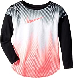 Nike Kids - Gradient Morph Dri-FIT Long Sleeve Tee (Little Kids)