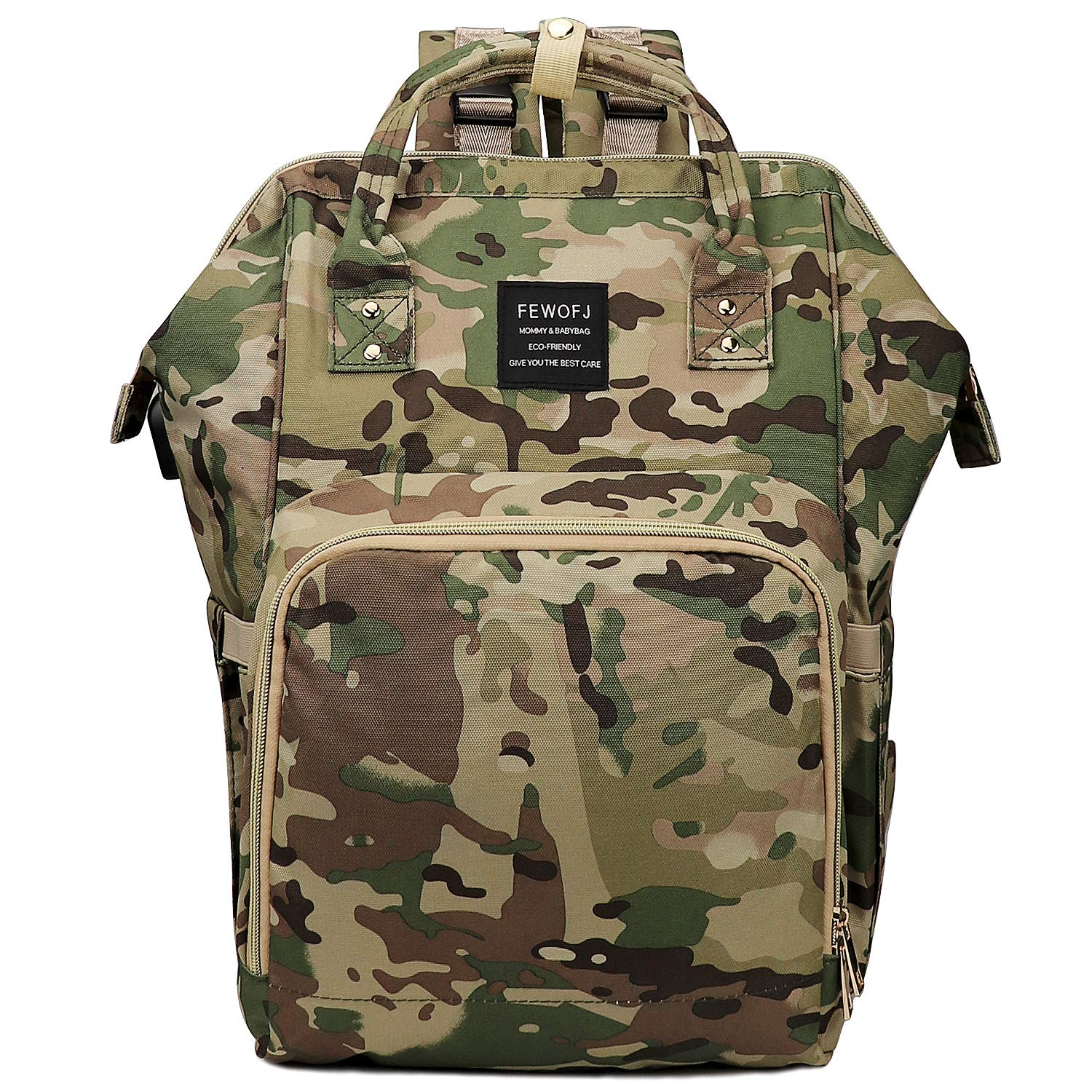 Camo Baby Boy Diaper Bag Backpack for Dad, Large Tactical Nappy Bags for Mens Travel