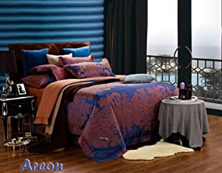 Dolce Mela DM473Q Jacquard Damask Luxury Bedding Duvet Covet Set, Queen