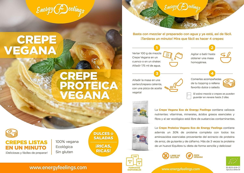 Energy Feelings Crepe proteica vegana ecológica - 200g   100 ...