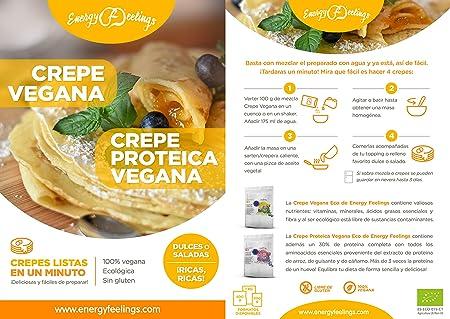 Energy Feelings Crepe proteica vegana ecológica - 200g | 100 ...