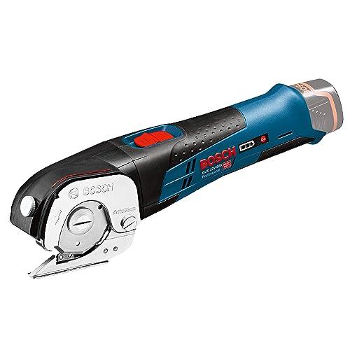 Bosch Professional GUS108VLIN 10,8V Bosch Ciseaux universels sans Fil GUS 10,8 V-LI-sans Chargeur-sans Batterie, Noir, Bleu