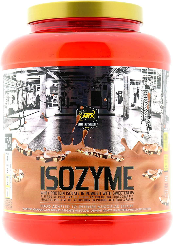 MTX nutrition ISOZyme [1,814 Gramos] 4 Lbs. Chocolate - Avellana – Aislado de Suero Premium Ultra-Microfiltrado