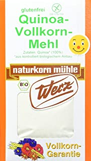 Werz Quinoa-Vollkorn-Mehl glutenfrei, 1er Pack 1 x 500 g Karton - Bio