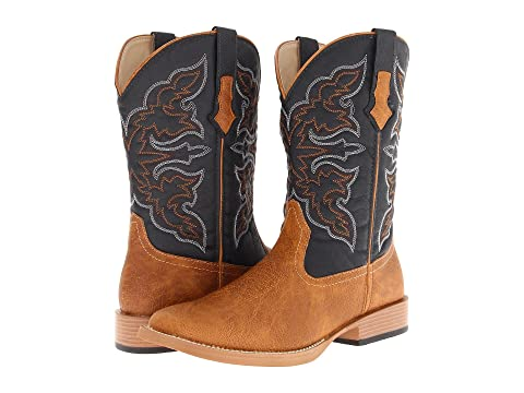 Toe BrownTan Square Roper Cowboy Boot 7xqUp5