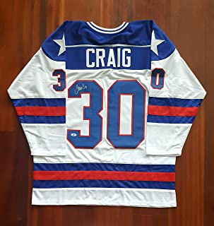 Jim Craig Autographed Signed USA Jersey 1980 Miracle Team Gold Medal Beckett