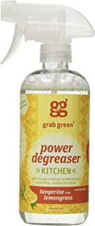 Grab Green Naturally-Derived, Non-Toxic, Biodegradable Power Degreaser, Residue & Streak-Free Finish, Tangerine with Lemongrass, 16 Ounce Bottle, 2 Pack