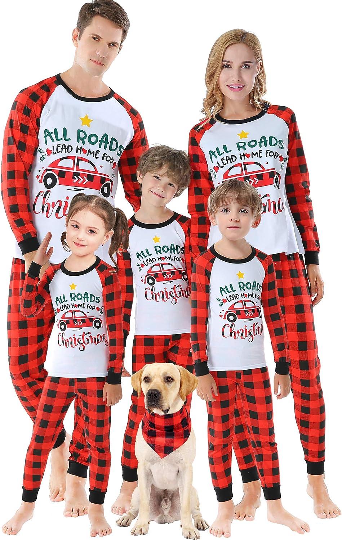 Family Matching Pajamas Christmas Jammies Clothes Handmade Funny Car Sleepwear Mum and Me Holiday Pjs Men L
