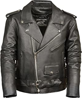 b0d5d0c4c2e72a Event Biker Leather Men s Basic Motorcycle Jacket with Pockets (Black