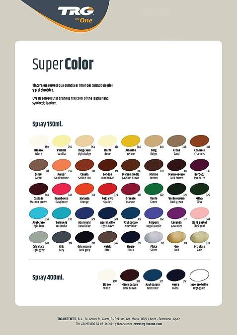 TRG The One - Tinte en Spray para calzado de Piel y Piel Sintética   Ideal para Restaurar o cambiar el color de Zapatos de PieL