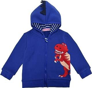 Little Boys' Shark Dinosaur Character Costume Fleece Hoodie Jacket