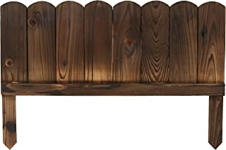 Sunnydaze Rustic Wood Outdoor Garden Border Fence Panel Set of 5, 22-Inch Wide x 15-Inch Height Per Panel, 9-Foot Overall