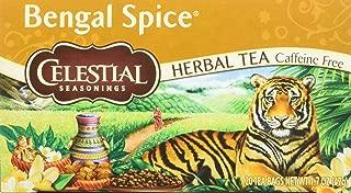 Celestial Seasonings Herbal Tea - Bengal Spice - Caffeine Free - 20 Bags -Pack of 6