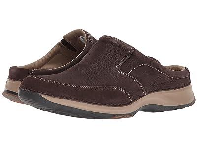 Rockport Rocsports Lite Five Clog (Dark Bitter Chocolate Leather) Men