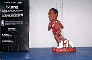 2003 LEBRON JAMES ROOKIE RED JERSEY DRIVING BOBBLEHEAD CLEVELAND CAVALIERS