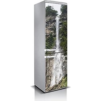 Vinilo para Frigorífico Gotas de Aguas cayendo   Varias Medidas 185x70cm   Adhesivo Resistente y de Fácil Aplicación   Pegatina Adhesiva Decorativa de Diseño Elegante: Amazon.es: Hogar