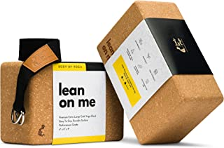 Luxury Cork Yoga Block Set - Extra Large Yoga Blocks with Performance Grade Portuguese Cork | High Density, Non-Slip Suppo...