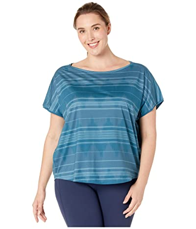 Prana Plus Size Shenay Top (Blue Note) Women
