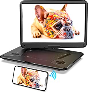 """SUNPIN Portable DVD Player 17.9"""" with HDMI Input, Screen Mirror Function,15.6"""" HD Screen, 6 Hours Rechargeable Battery, An..."""