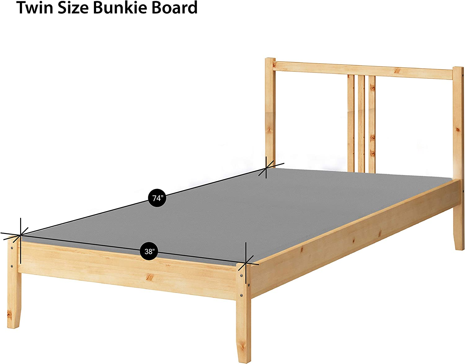 Spinal Solution, Fully Assembled 1.5  Foundation Bunkie Board  Twin Size