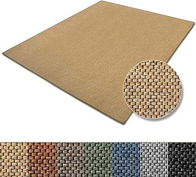 casa pura Teppich Sabang   viele Farben und Größen   Flachgewebe, Sisaloptik   Qualitätsprodukt aus Deutschland   GUT Siegel   für Wohnzimmer, Kinderzimmer, Flur etc. (Natur, 140x200cm)