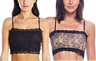 PURE STYLE Girlfriends Women's Camiflage Breathable Stretch Lace Half Cami