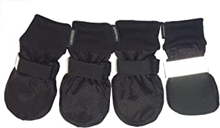 LONSUNEER Paw Protector Dog Boots Soft Sole Nonslip Safe Reflective Set of 4