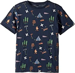 Stella McCartney Kids - Arrow Short Sleeve Campsite Printed Tee (Toddler/Little Kids/Big Kids)